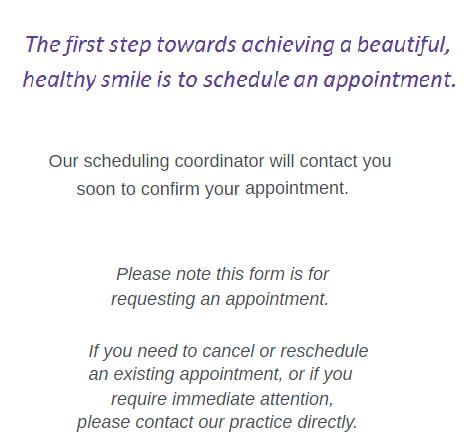 Appointment request drs decker sbuttoni boghosian dicerbo appointment request altavistaventures Choice Image